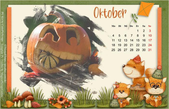 """Herausforderung """"Kalender Oktober"""""""